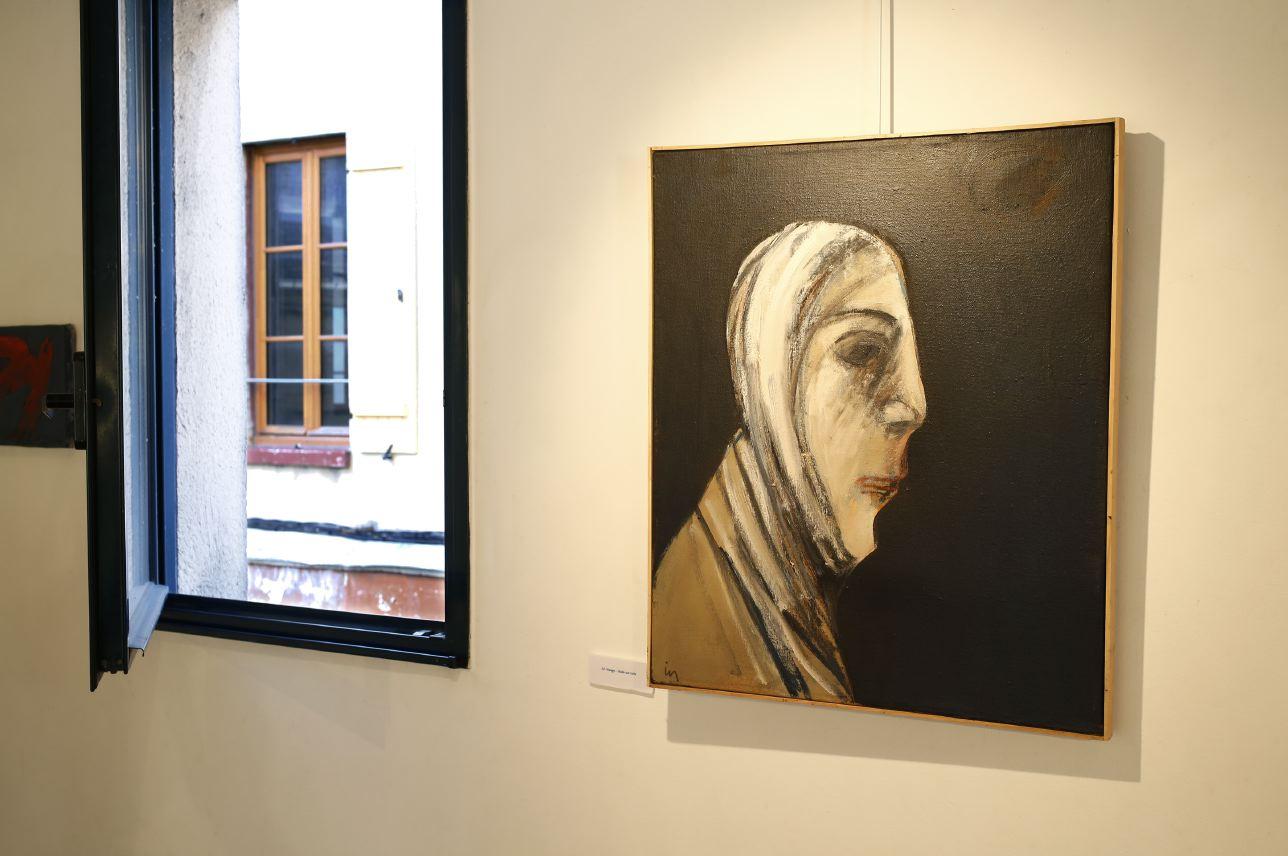 Peinture exposées, Ismail Yildirim. Photo © Philippe Cibille